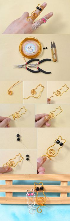 Aluminum Wire Wrapped Cat Shaped Rings DIY  URL : http://amzn.to/2mOD07b 50% Discount Code :  QP4BKMDQ