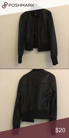Black leather Jacket! ((: It's only been use a couple of times but in great condition! Jackets & Coats