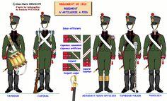 Artiglieria a piedi testa della colonna 1812
