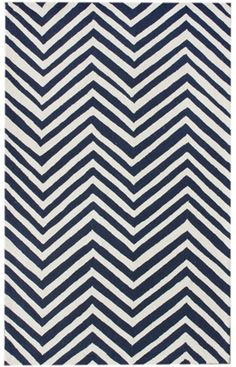 Rugs USA Homespun Collection Zig Zag Navy Blue Rug