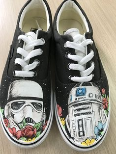 3448bbdb1f Custom Star Wars Hand Painted Shoes Star Wars Custom Vans Shoes Sneakers  Painted Shoes Custom Sneakers