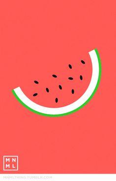 #11 watermelon - MNML THING http://mnmlthing.tumblr.com