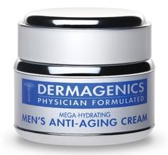 Men's Mega-Hydrating Anti-Aging Cream by Dermagenics. $85.00. Lifts sagging eyelids. Minimizes large pores, reduces under-eye puffiness and dark circles. Brightens the skin and generates a healthy glow.. Dramatically reduces the appearance of fine lines and wrinkles wherever they occur: forehead, between brows, crow's feet, laugh lines, wrinkles at the throat and neck. Promotes a firmer, more toned look and feel. Dermagenics Men's Mega-Hydrating Anti-Aging Cream is specifica...