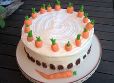 carrot cake with white chocolate cream cheese frosting #happy easter