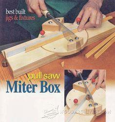 DIY Pull Saw Miter Box - Hand Tools Tips and Techniques | WoodArchivist.com