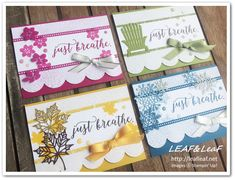 Leaf Images, Thanks Card, Just Breathe, Scrapbook Paper Crafts, Thank You Cards, Stampin Up, Thankful, Seasons, Handmade