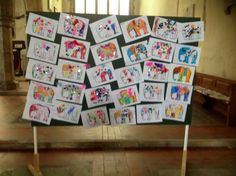 Some of the Henry's Elephant mascots for Sandwich Kent decorated by Reception children from Sandwich Infants School.