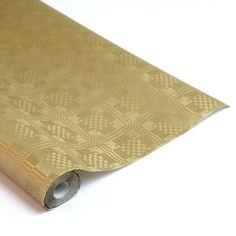 Guld Metallic Papirsdug Rulle 8 x 1,2 m - Single