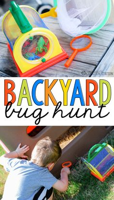 Spring time leads to insects! After learning about caterpillars and butterflies, it's time to explore and find more bugs! Take your little entomologist and ventured out into the backyard for your very own backyard bug hunt. Then check out my Bugs Resources for Little Learners!  - Mrs. Jones' Creation Station  #Bugs #Spring #TpT