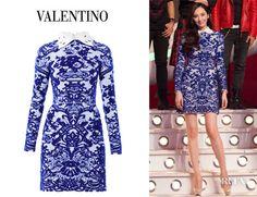 Pace Wu's Valentino Delft Intarsia Knit Dress