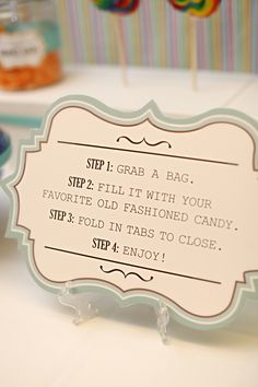 Candy bar bagging station...instead of bags maybe small mason jars as wedding favors???
