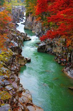 Geibikei Gorge, Iwate Prefecture, Japan. photo: donai_sei.