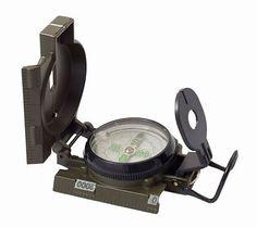 Military Land Navigation Lensatic Compass Metal Body OD Green + Free Shipping