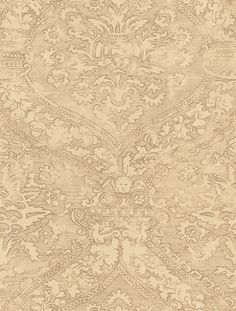 Fairfax (310451) - Zoffany Wallpapers - This renaissance design is taken from a rare block printed fabric and has been printed to imitate the worn effect of the original. Showing in metallic Gold. Other colours are available. Please request a sample for true colour match.