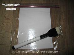 "Classroom DIY: DIY ""Show Me"" Board  http://www.classroomdiy.com/2012/07/diy-show-me-board.html"