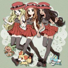 Tags: Anime, Pokémon, Pixiv Id 234289, Fennekin, Froakie