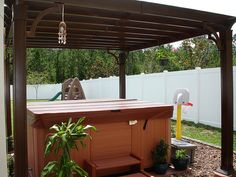 Hot Tub with Pergola, via Flickr.