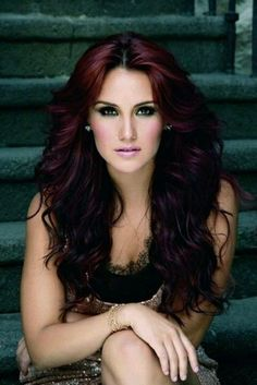 burgundy hair with ombre