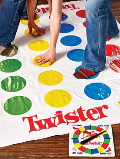 Twister is a classic party game that includes a spinner, a vinyl Twister mat and instruction manual. Enjoy a game of Twister and have your party guests in stitches. Beach Party Games, Tween Party Games, Indoor Party Games, Princess Party Games, Sleepover Party, Kids Art Party, Outside Party Games, Kids Birthday Party Games, Rainbow Party Games