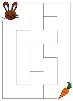Pro Šíšu: Bludiste Fun Worksheets For Kids, Mazes For Kids, Printable Preschool Worksheets, Preschool Learning Activities, Teaching Activities, Kids Learning, Kindergarten Prep, Kindergarten Worksheets, Maternelle Grande Section