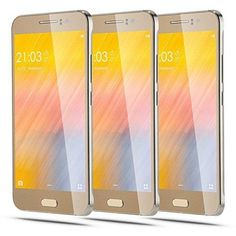 "LXLG Unlocked Phones 5.0"" Android 5.1 MTK6580 Quad Core ROM 4GB 5.0MP Camera Dual SIM Dual Standby GSM/3G Quadband Cellphones Smartphones WIFI Bluetooth Gold"