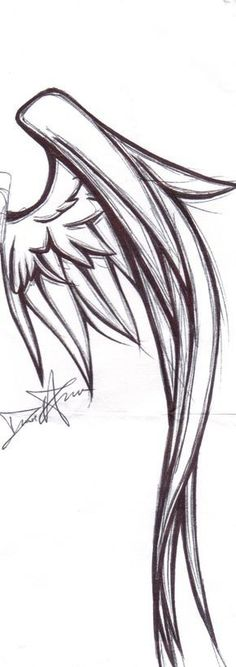 Wing Tattoo Design by kitty-kit #wingstattoosonback