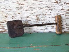 Antique Tobacco Cutter . Rustic Old Tool . by 13thStreetEmporium