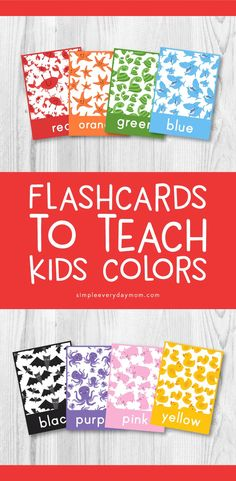 Tired of boring flashcards for kids? Try these printable flash cards that are adorable and teach toddlers colors. Food Flashcards, Flashcards For Toddlers, Printable Activities For Kids, Fun Worksheets, Printable Crafts, Toddler Activities, Kid Printables, Babysitting Activities, Vocabulary Activities