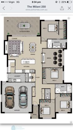 Jrz constructions milani house plan planos in 2019 house plans, home design Model House Plan, My House Plans, House Layout Plans, Floor Plan Layout, Family House Plans, Bedroom House Plans, House Layouts, House Floor Plans, Home Design Floor Plans