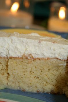 """I saw this recipe for Tres Leches Cake on Pioneer Woman's site, and had to try it. When Jenna and her friend came to visit I thought - """"Hey!..."""