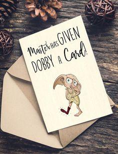 DOBBY KARTE Harry Potter Grußkarte Dobby Paar von BeardleyUK