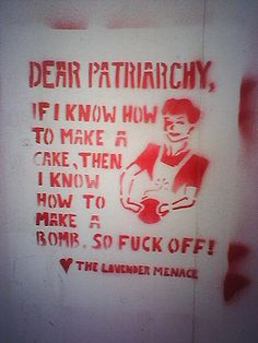 Dear Patriarchy, cakemakers are dangerous, so...