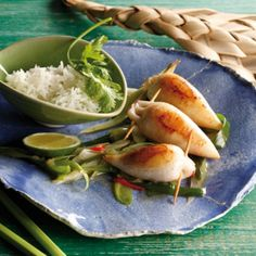 Gefüllte Calamari Paella, Squid Dishes, Calamari Recipes, Italian Cooking, Soul Food, Street Food, Guacamole, Seafood, Fries