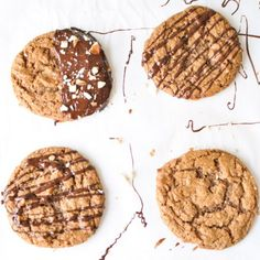 These simple and delicious cookies are made with 6 wholesome ingredients and a breeze to whip up. #Paleo+#GlutenFree