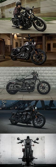 If you thought the Iron 883 couldn't get any darker, you're mistaken. | Harley-Davidson #DarkCustom
