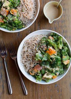 Sweet Potato, Broccoli & Miso Salad with Avocado