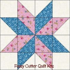 Free Easy Quilt Block Patterns | ... Points Star Pre-Cut Easy Quilt Top Blocks Kit Fussy Cutter Quilt Kits