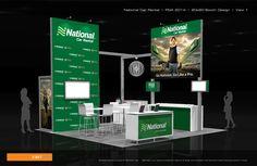 National Car Rental – 20×20 Trade Show Display Rental