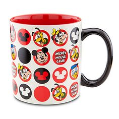 Icon Pattern The Mickey Mouse Club Mug | Drinkware | Disney Store | $10.50