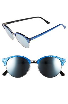 Ray-Ban 'Club' 51mm Round Sunglasses available at #Nordstrom