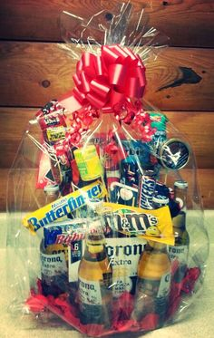Gift basket for a truck driver or boyfriend all the essentials from toilet roll mini baskets to easy and quick easter basket pudding cups heres some really awesome budget friendly ways to wrap up all those lovely negle Image collections