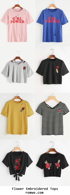 Flower Embroidered Collection - romwe.com
