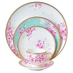 Amazon.com: Wedgwood Spring Blossom 5 Piece Place Setting, White by Wedgwood: Paintings