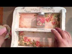 ▶ Shabby Chic craft caddy - YouTube