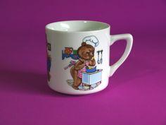 Westminster Teddy Bear Mug  Vintage Child's Bears by FunkyKoala