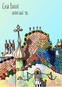 Casa Batlló Art Print