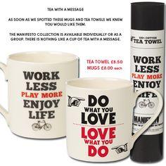 Twinings Tea Mugs with a message