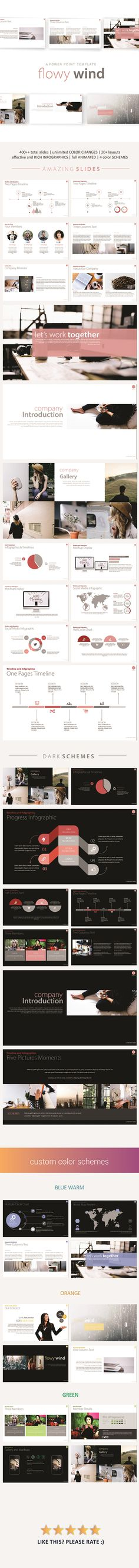 Flowy Wind PowerPoint Template. Download here: http://graphicriver.net/item/flowy-wind-powerpoint-template/16108017?ref=ksioks