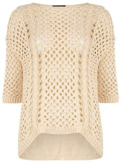 Cream basket stitch jumper