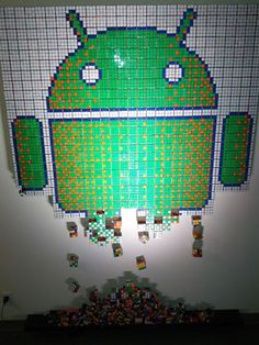 Android made out of Rubik's Cubes. #android